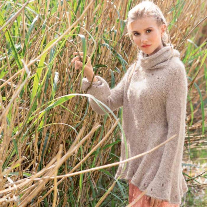 Вязание для женщин. Связанная по кругу туника спицами