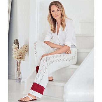 Вязание для женщин. Трикотажные брюки спицами