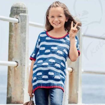 Вязание для детей. Летняя туника для девочки спицами