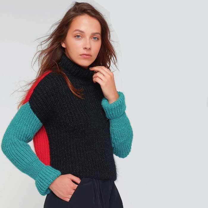 Вязание для женщин. Пуловер спицами патентной резинкой