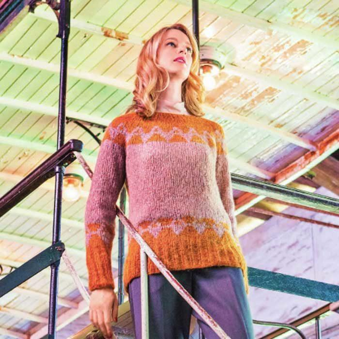 Вязание для женщин. НОРВЕЖСКИМ ПУЛОВЕР СПИЦАМИ