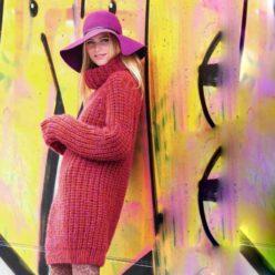 Вязание для женщин. Объемный пуловер реглан спицами
