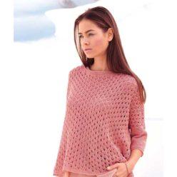 Вязание для женщин. Пуловер с узором из дырочек