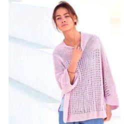 Вязание для женщин. Пуловер спицами с дырочками