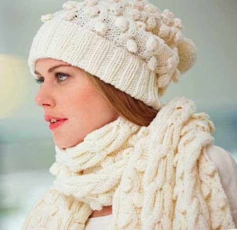 Вязание для женщин. Шарф и шапка спицами