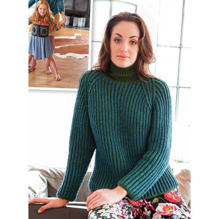 Вязание для женщин. Пуловер спицами реглан