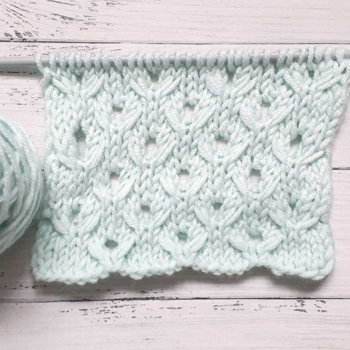 Простой узор спицами для пуловера, схема + видео как связать