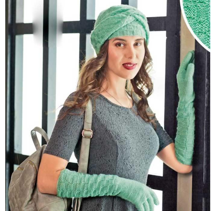 Вязание для женщин. Чалма спицами и длинные перчатки спицами