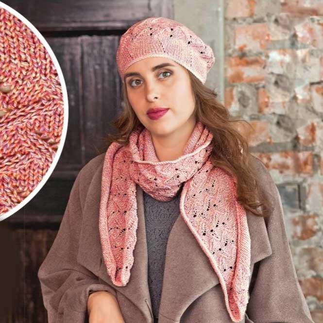 Вязание для женщин. Берет спицами и шарф спицами из хлопка