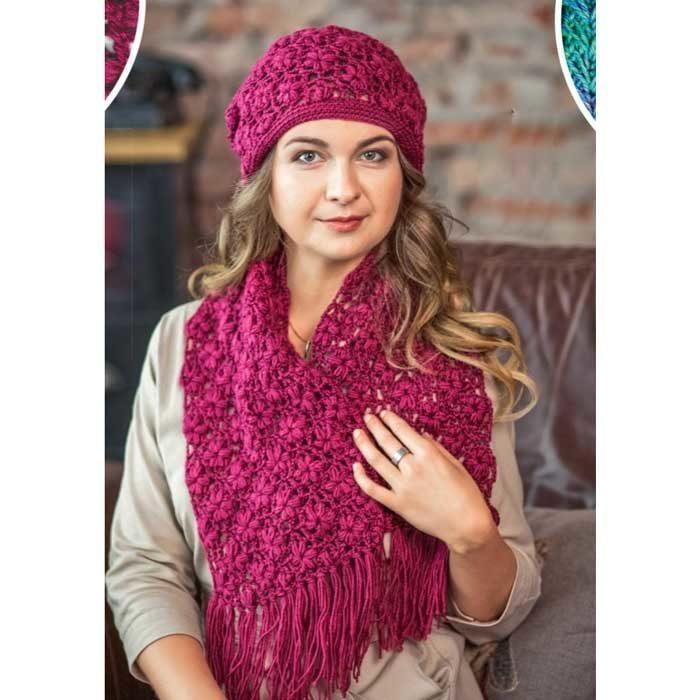 Вязание для женщин. Шапка и шарф крючком