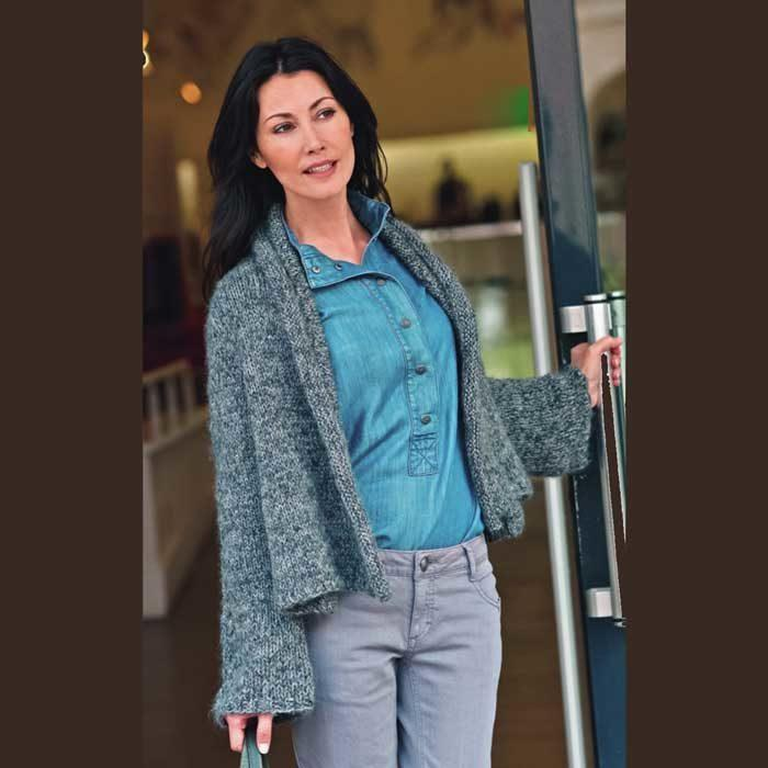 Вязание для женщин. Жакет спицами из шерсти