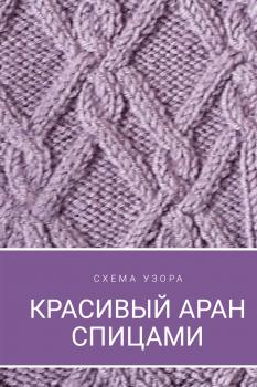 Очень красивый узор спицами арана, для пуловера, жакета