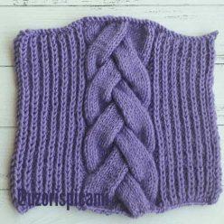 Красивая коса спицами для пуловера, схема узора