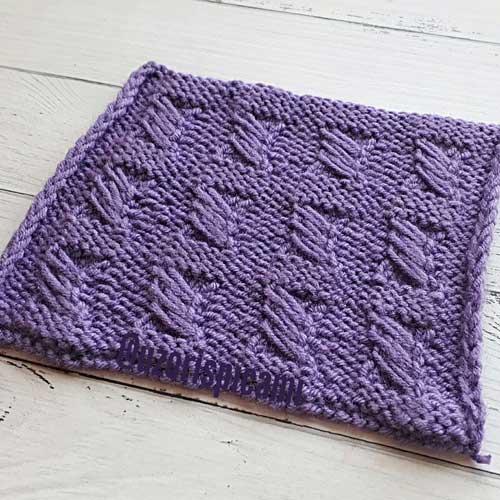 Красивый простой узор спицами для пуловера, жакета, схема узора