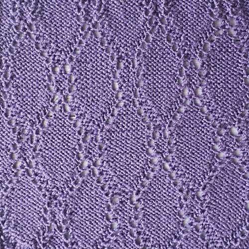Красивый ажурный узор спицами, схема узора