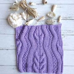 Простой красивый узор спицами с косами для пуловера, схема узора