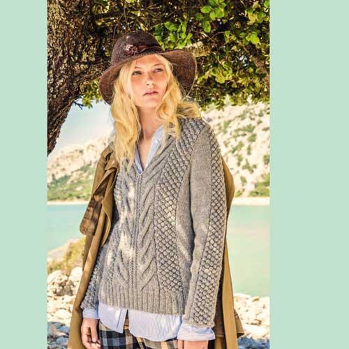 Вязание для женщин. Пуловер с v-образным вырезом.