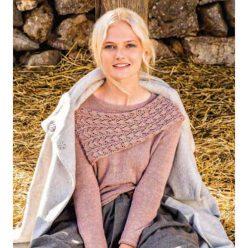 Вязание для женщин. ПУЛОВЕР СПИЦАМИ С ПРИШИТЫМ ШАРФОМ