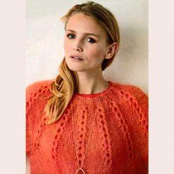 """Вязание для женщин. Пуловер спицами с кокеткой из ажурных """"Прошв"""""""