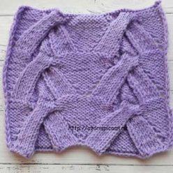 Красивый необычный узор спицами для пуловера, джемпера, схема узора