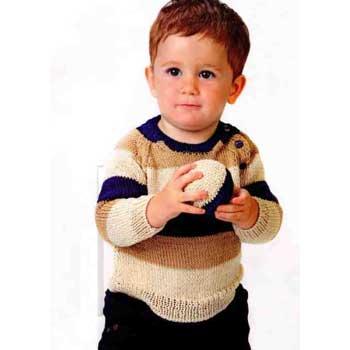Вязание для малышей. Пуловер для мальчика и мяч спицами