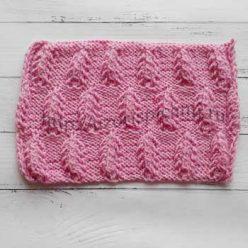 Красивый узор спицами для жакета, пуловера, схема узора