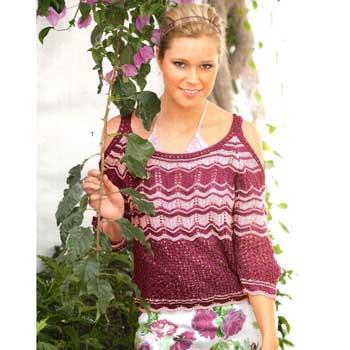 Вязание для женщин. Пуловер спицами на бретелях