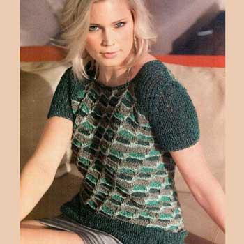 Вязание для женщин. Пуловер спицами с узором из снятых петель