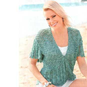 Вязание для женщин. Пуловер спицами с глубоким V-образным вырезом